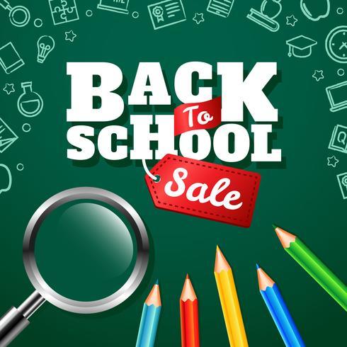 Voltar para a venda da escola vetor