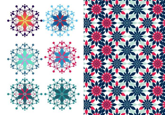 Pacote Festivo Floral Vector & Illustrator Pattern