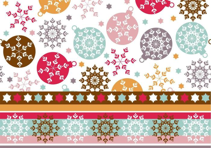 Snowflake Ornament Wallpaper & Illustrator Pattern vetor