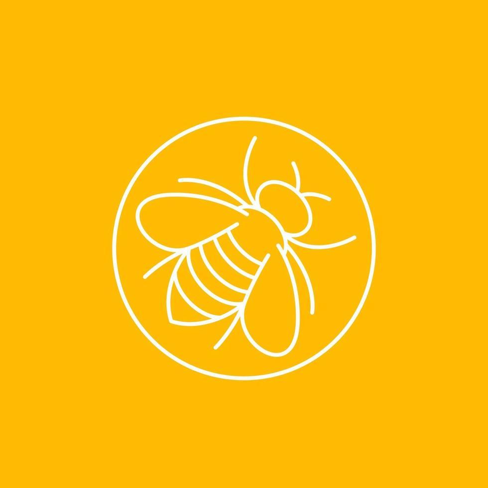 ícone de abelha, design de vetor linear.