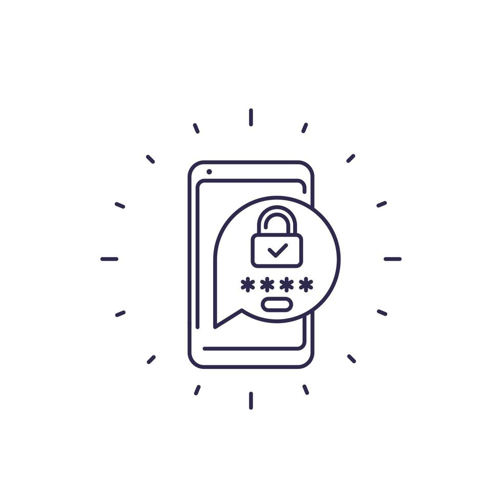 autenticação, senha de acesso à linha icon.eps vetor