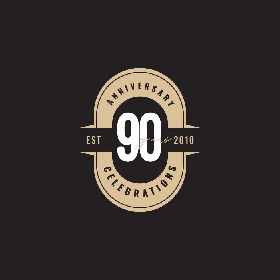 90 anos aniversário celebração número texto vetor modelo design ilustração