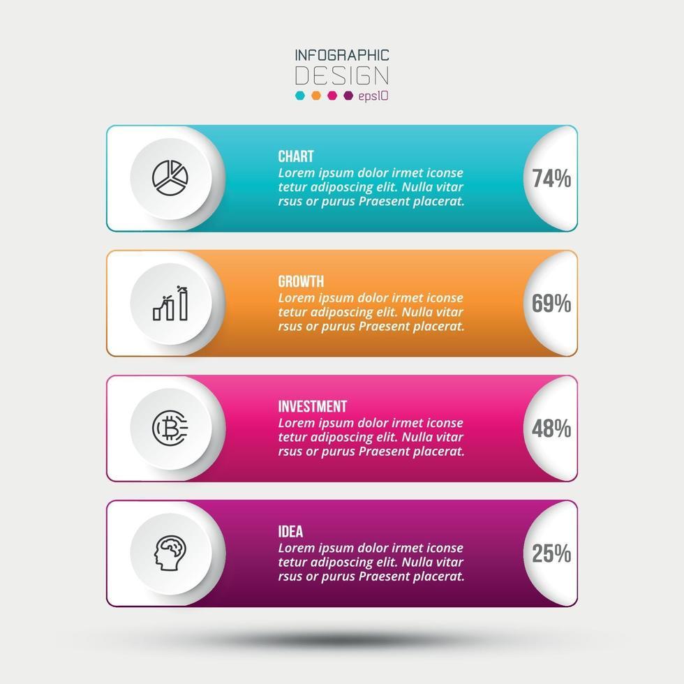 vetor design de modelo de infográfico de negócios.