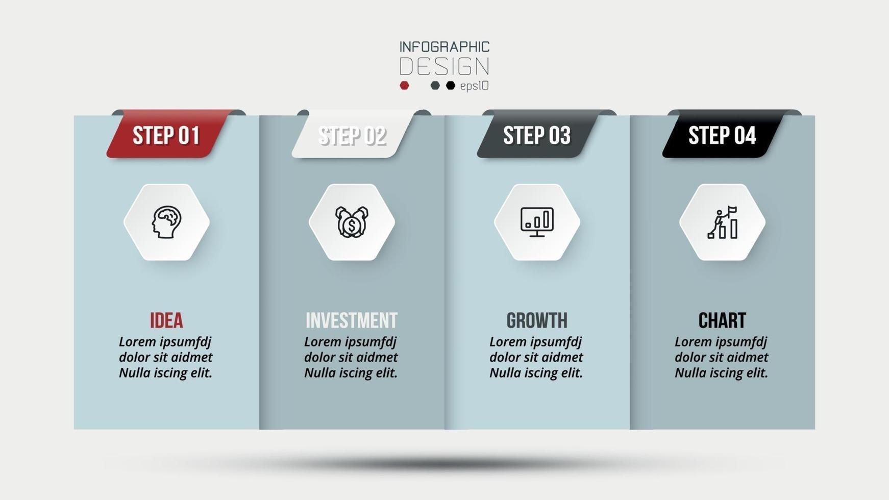conceito de negócio infográfico modelo de design. vetor