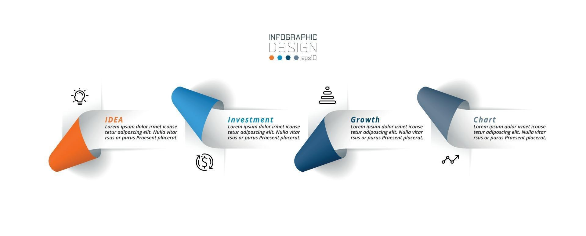 modelo de infográfico de negócios ou marketing. vetor