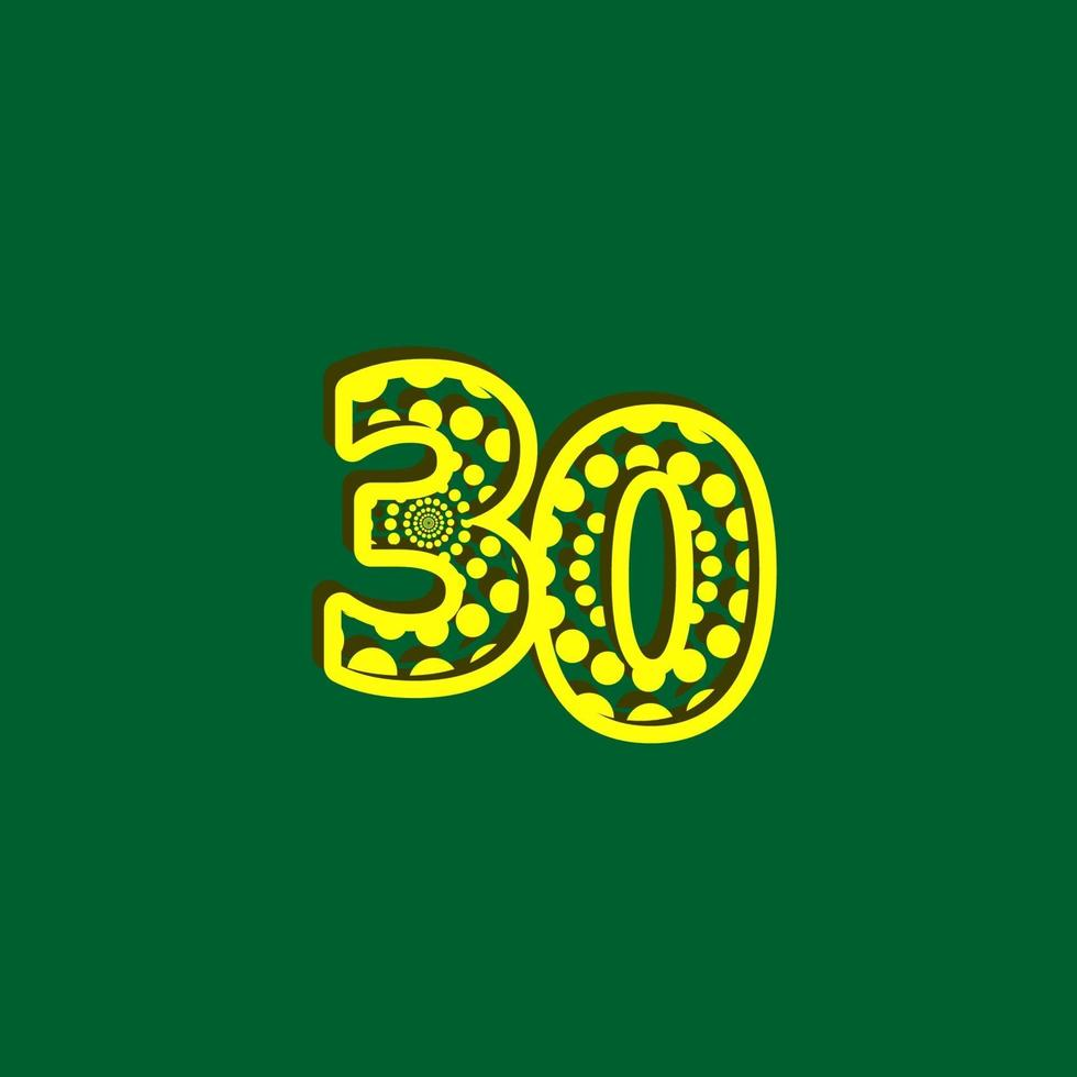 Ilustração de design de modelo de vetor de bolha de celebração de 30 aniversário