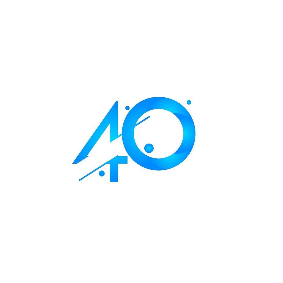 Ilustração de design de modelo de vetor de celebração de 40 aniversário gradiente