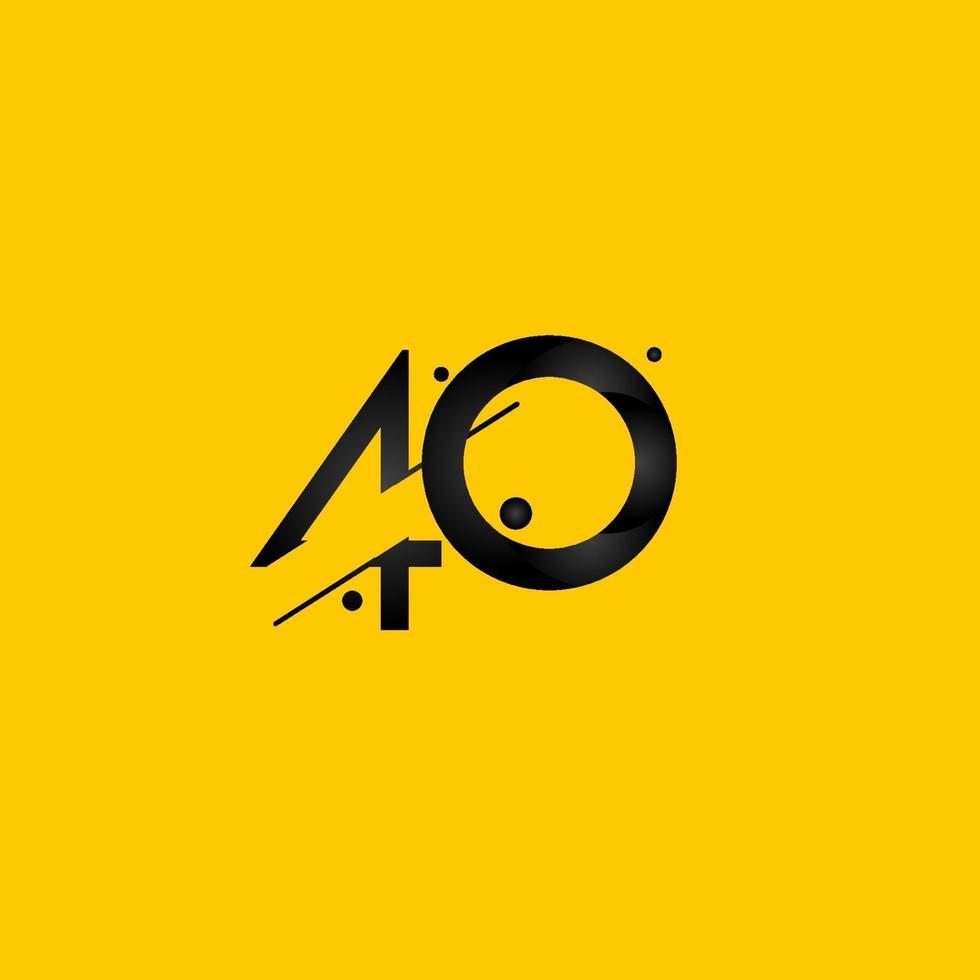 Celebração de aniversário de 40 anos gradiente número amarelo ilustração vetorial modelo vetor