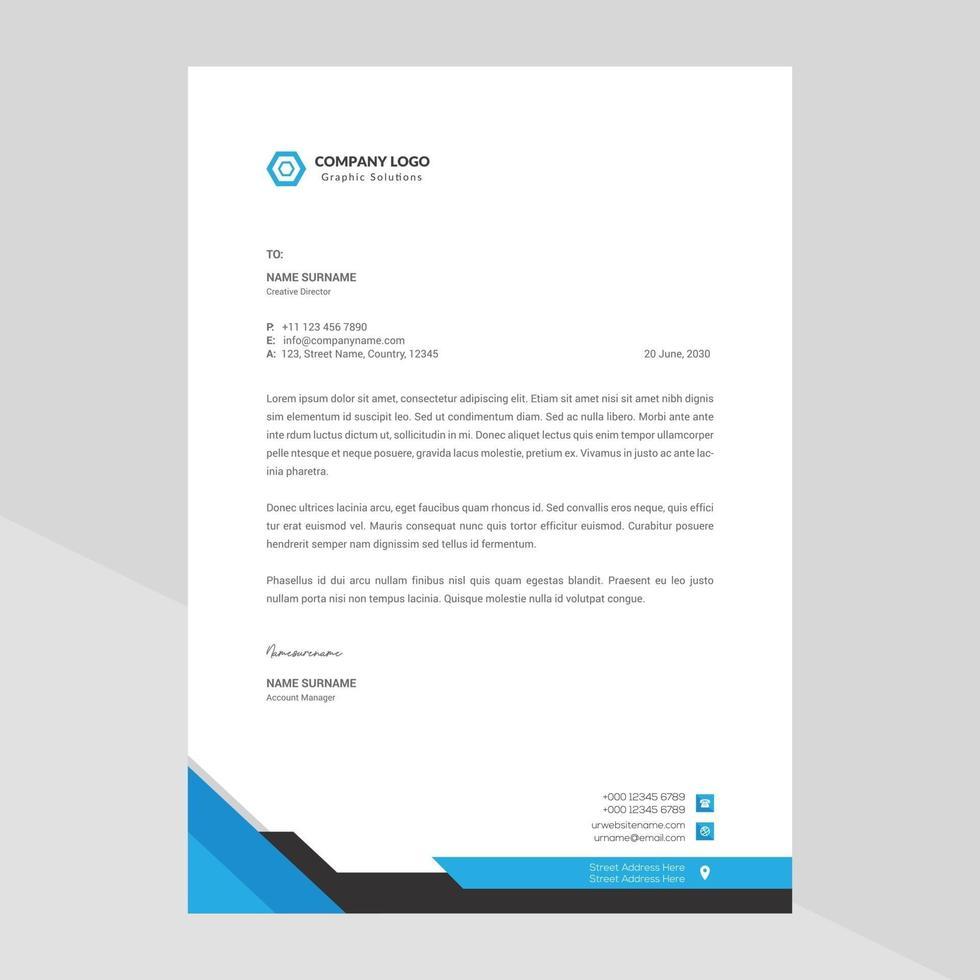 papel timbrado moderno da empresa vetor