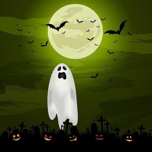 Fundo de fantasma de Halloween vetor