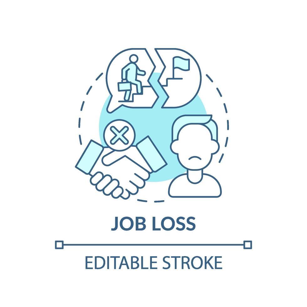 ícone do conceito de perda de emprego vetor