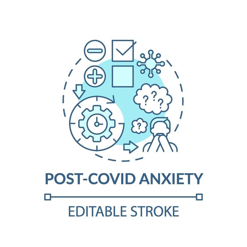 ícone do conceito de ansiedade pós-cobiça vetor