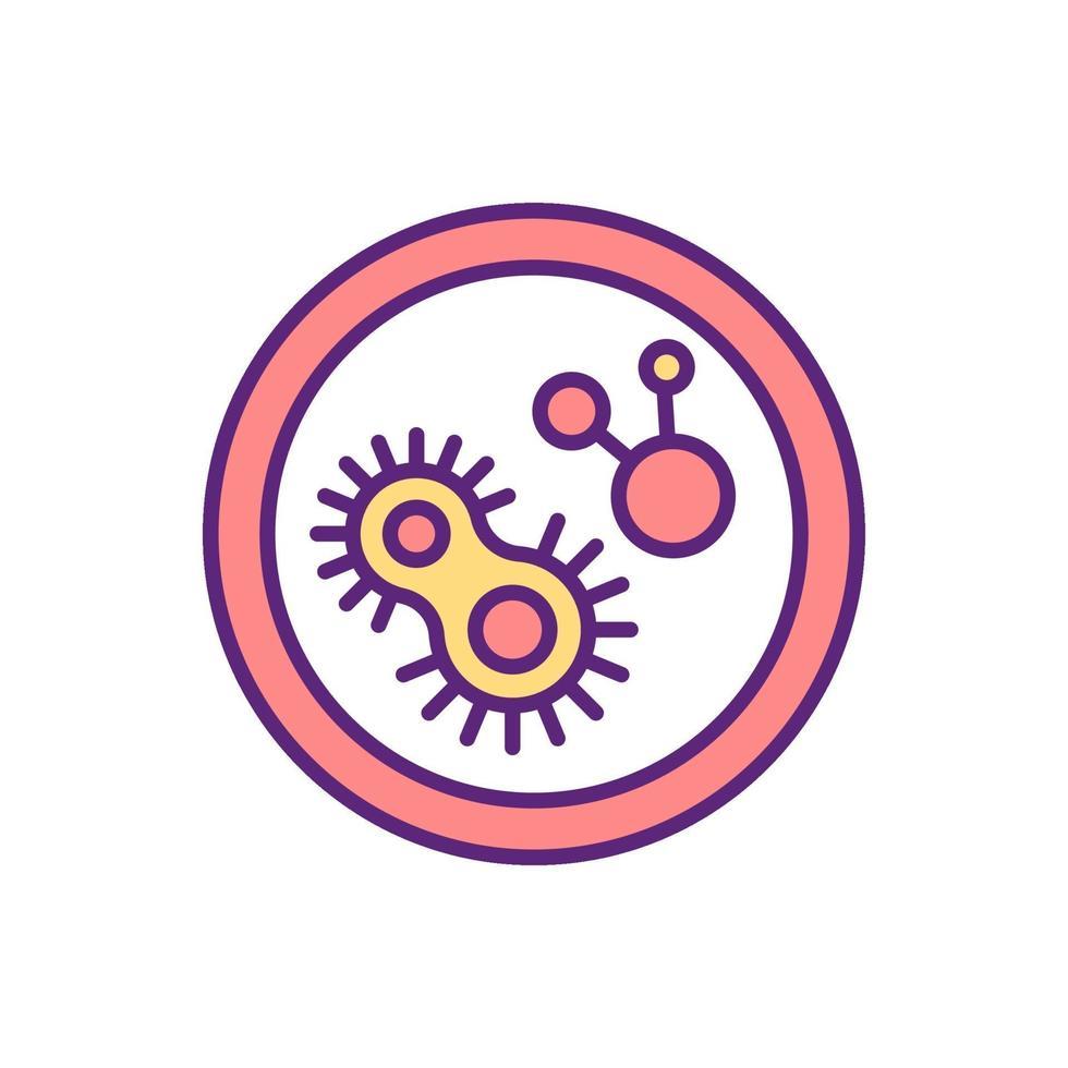 ícone de cor da microbiota intestinal vetor