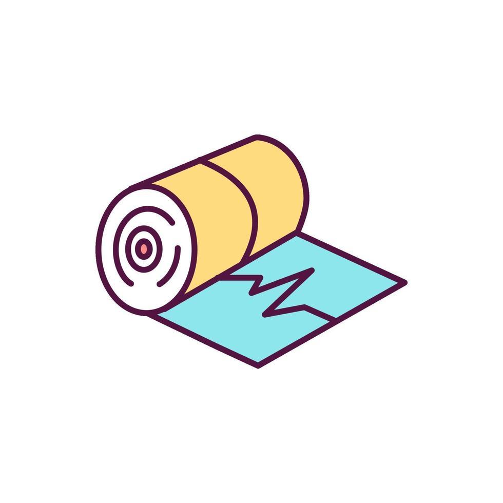 ícone de cor de eletrocardiografia vetor