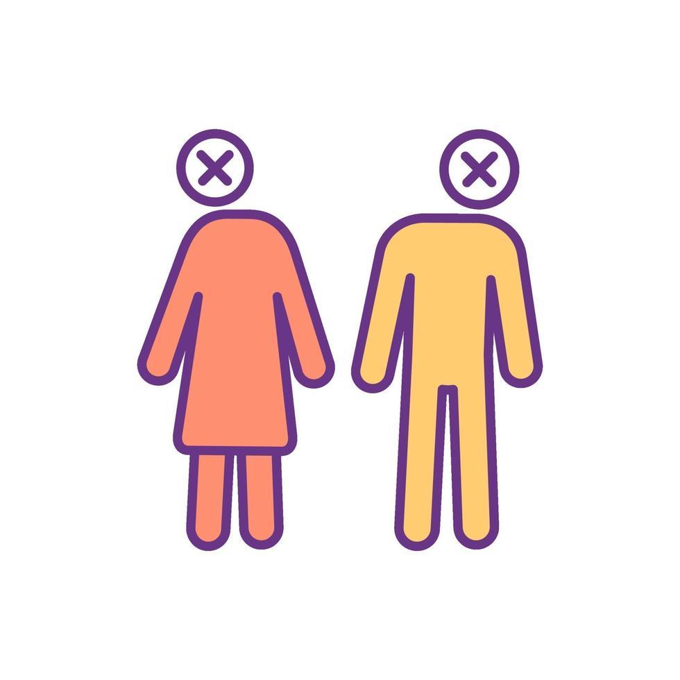 ícone de cor de estar à beira do divórcio vetor