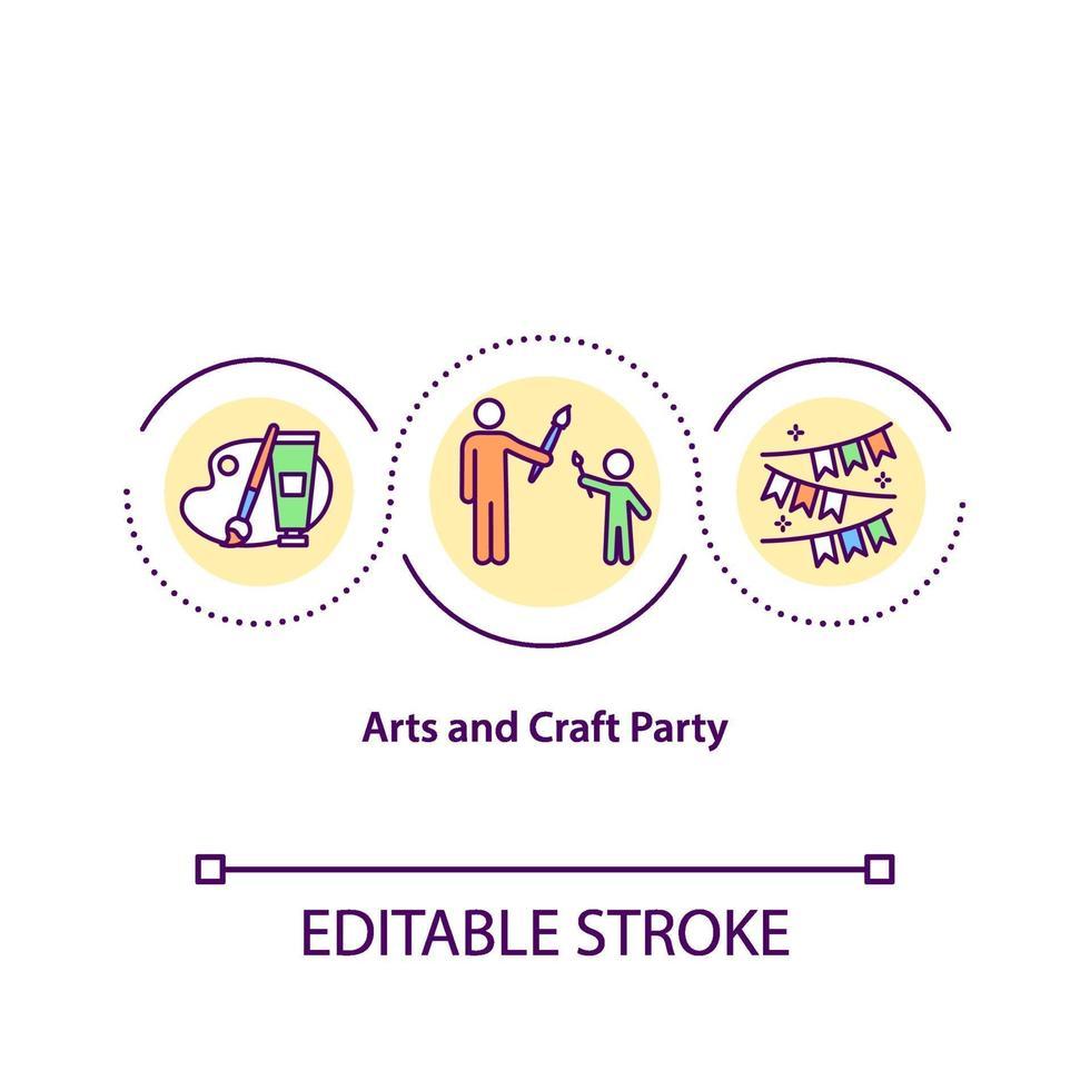 ícone de conceito de festa de artes e artesanato vetor