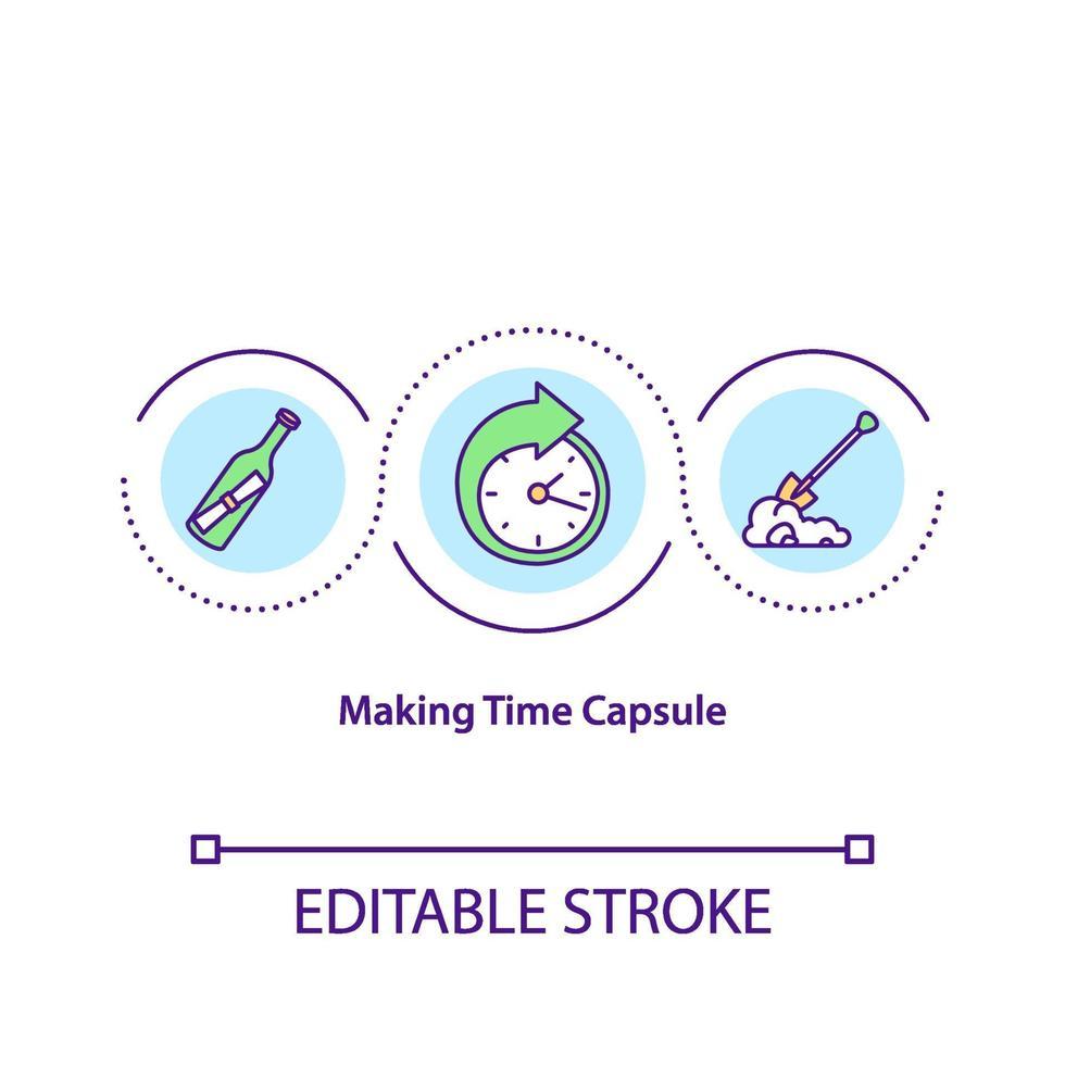 tornando o ícone do conceito de cápsula do tempo vetor