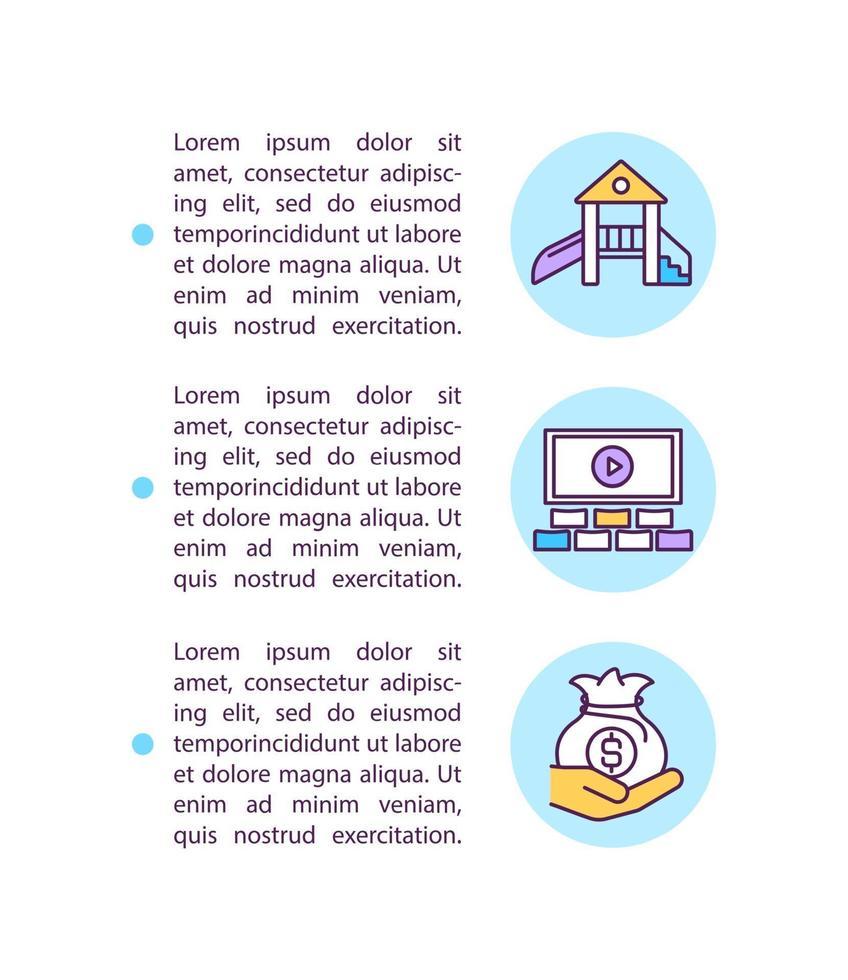 Ícone do conceito de ajuda para pequenas empresas com texto vetor