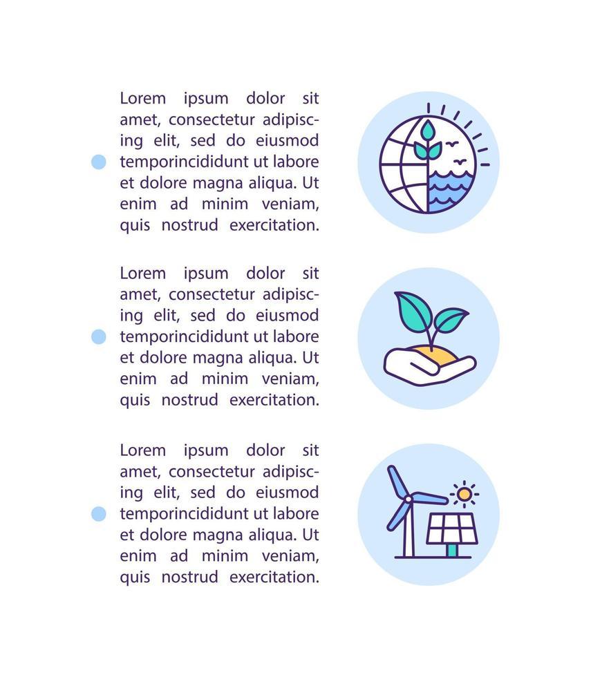 promoção de ícone de conceito de recuperação verde com texto vetor