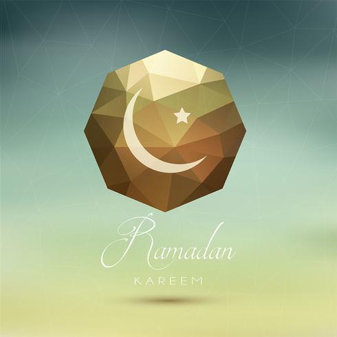 Fundo abstrato Ramadan vetor