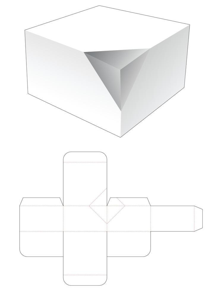molde para caixa de lata de canto chanfrado vetor