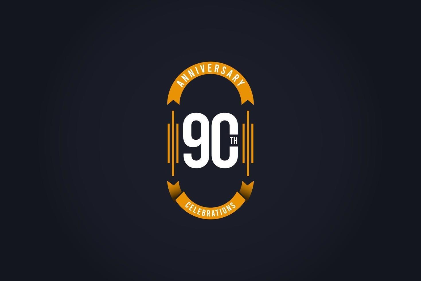 Ilustração do projeto do modelo do logotipo da celebração do 90º aniversário vetor