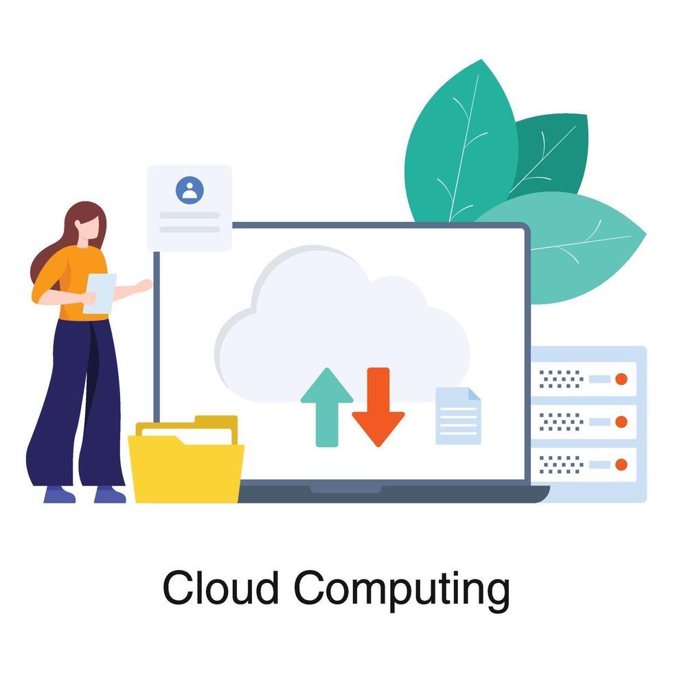 conceito de rede de computação em nuvem vetor