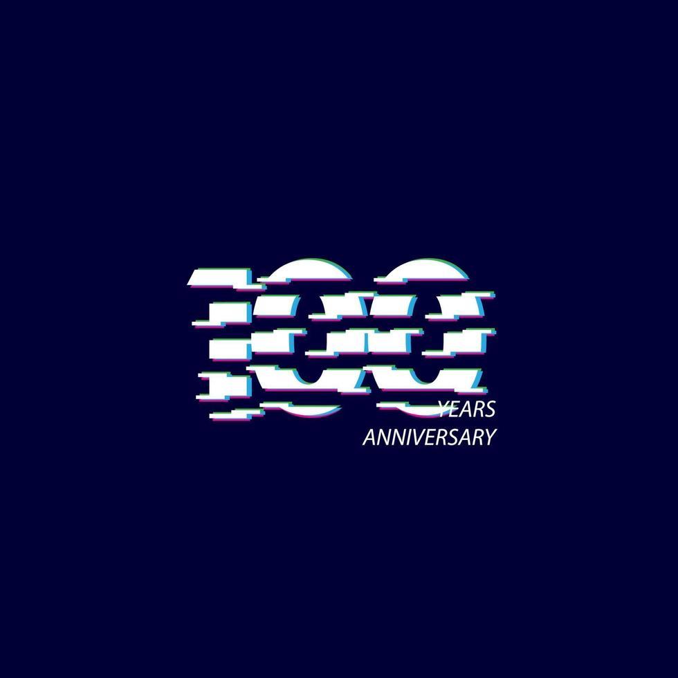 100 anos aniversário comemoração número vector template design ilustração