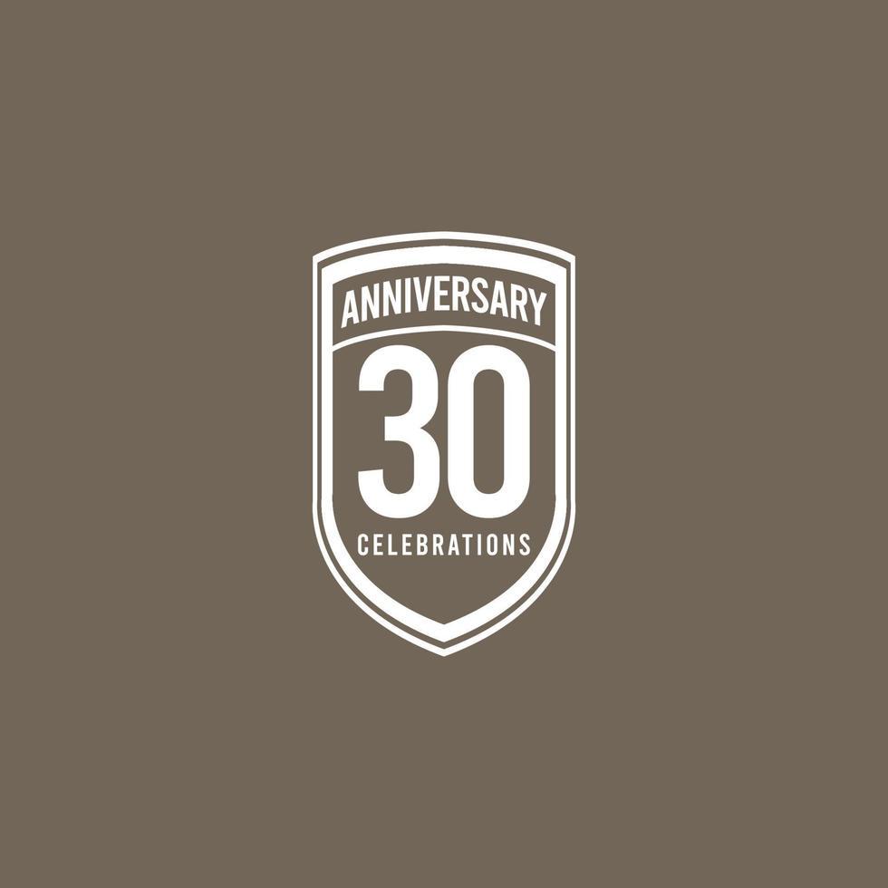 Celebração de aniversário de 30 anos retrô clássico ilustração vetorial vetor