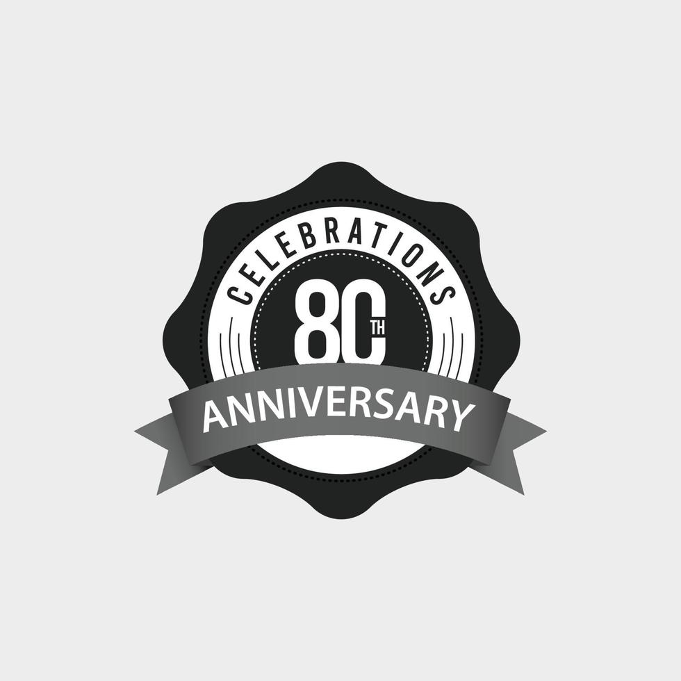 Ilustração de design de modelo vetorial celebrações do 80º aniversário vetor