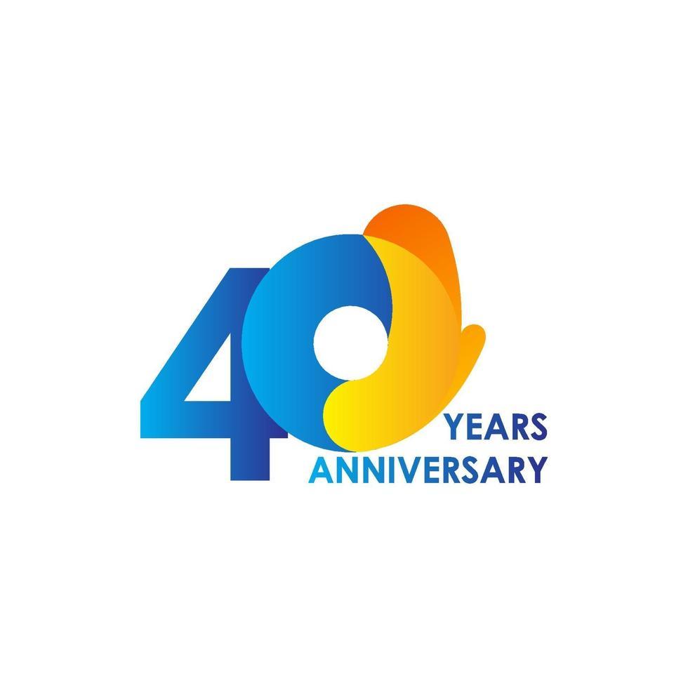 Ilustração de design de modelo de vetor de 40 anos de celebração
