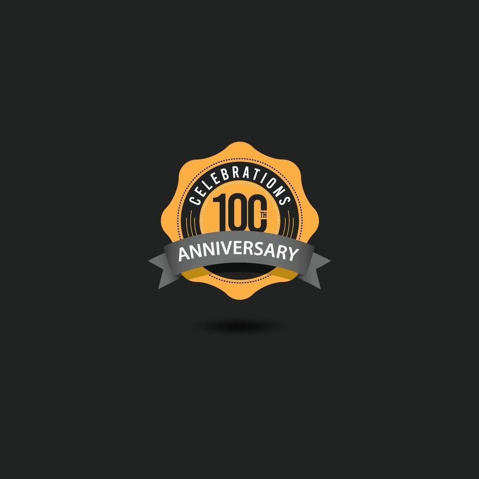 Ilustração do design do modelo vetorial comemorações do 100º aniversário vetor