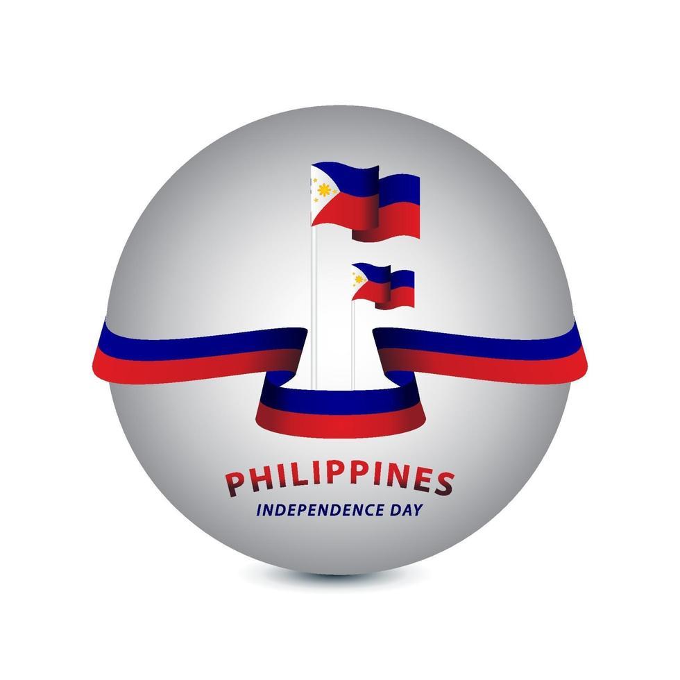 Feliz Dia da Independência das Filipinas ilustração de design de modelo de vetor
