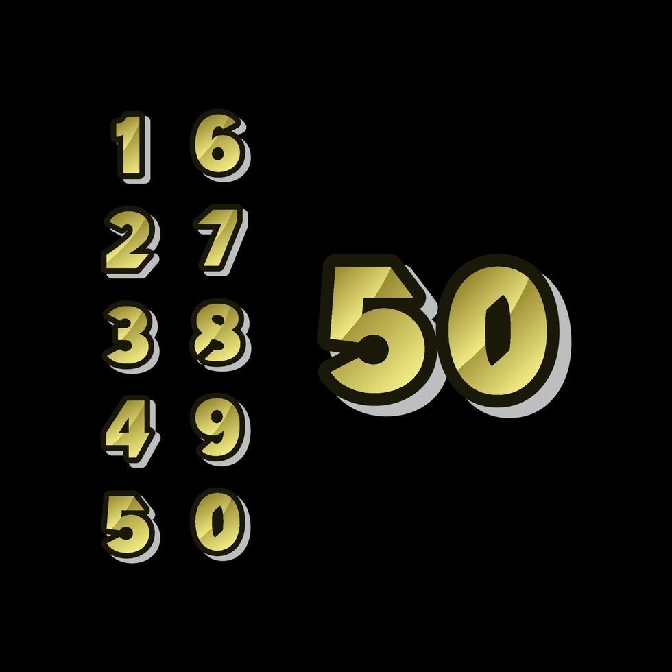 As celebrações do aniversário de 50 anos definem um número vetor