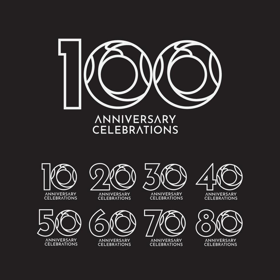 Ilustração de design de modelo vetorial celebração de aniversário de 100 anos vetor