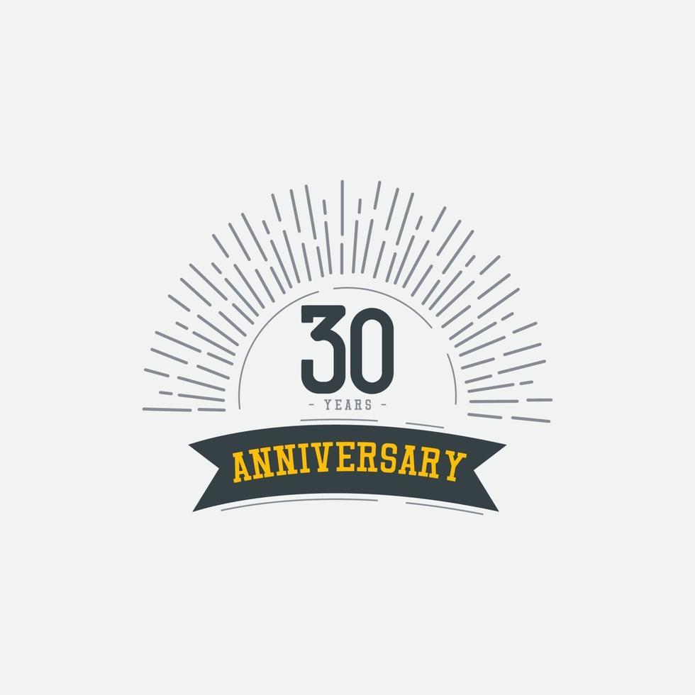 Ilustração de design de modelo vetorial comemorações de aniversário de 30 anos vetor