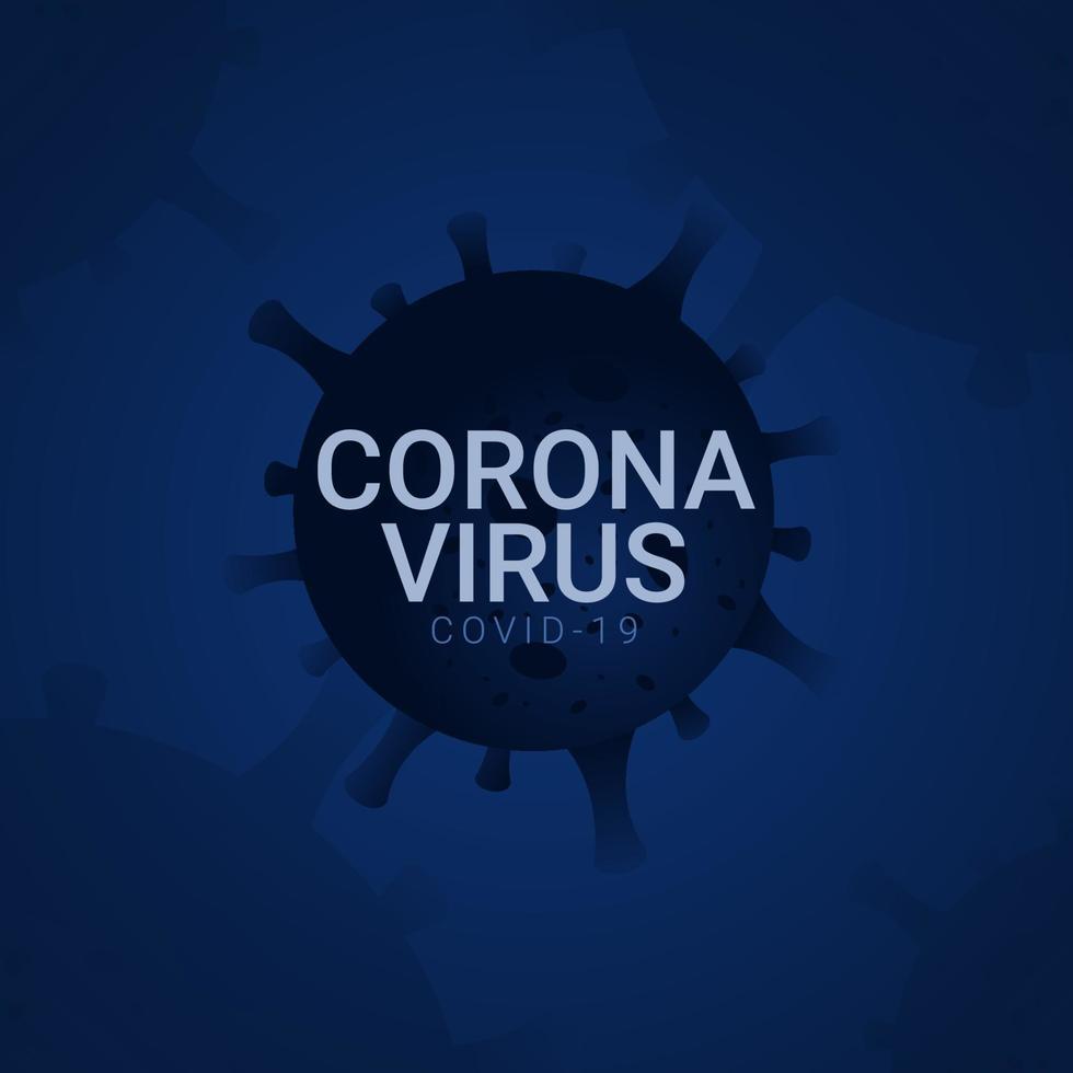 ilustração de design de modelo vetorial corona vírus covid-19 vetor