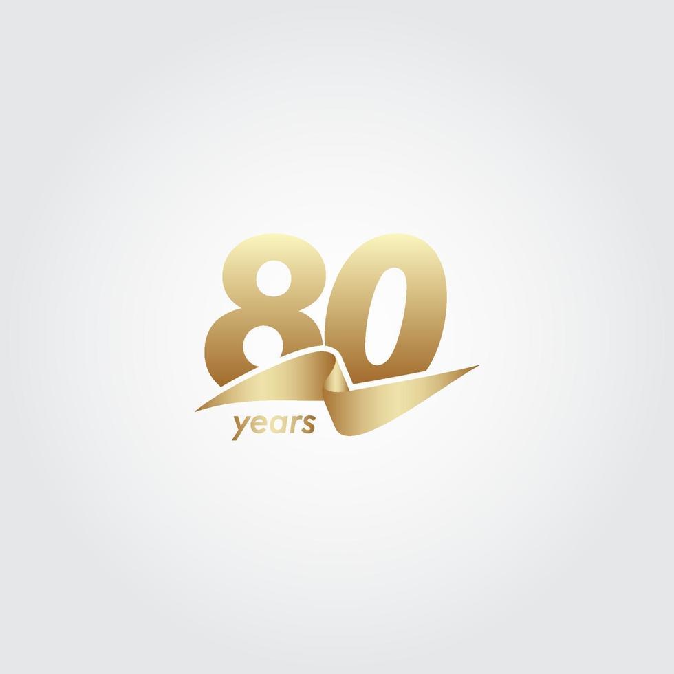 80 anos de comemoração de aniversário de ilustração de design de modelo vetorial de fita vetor