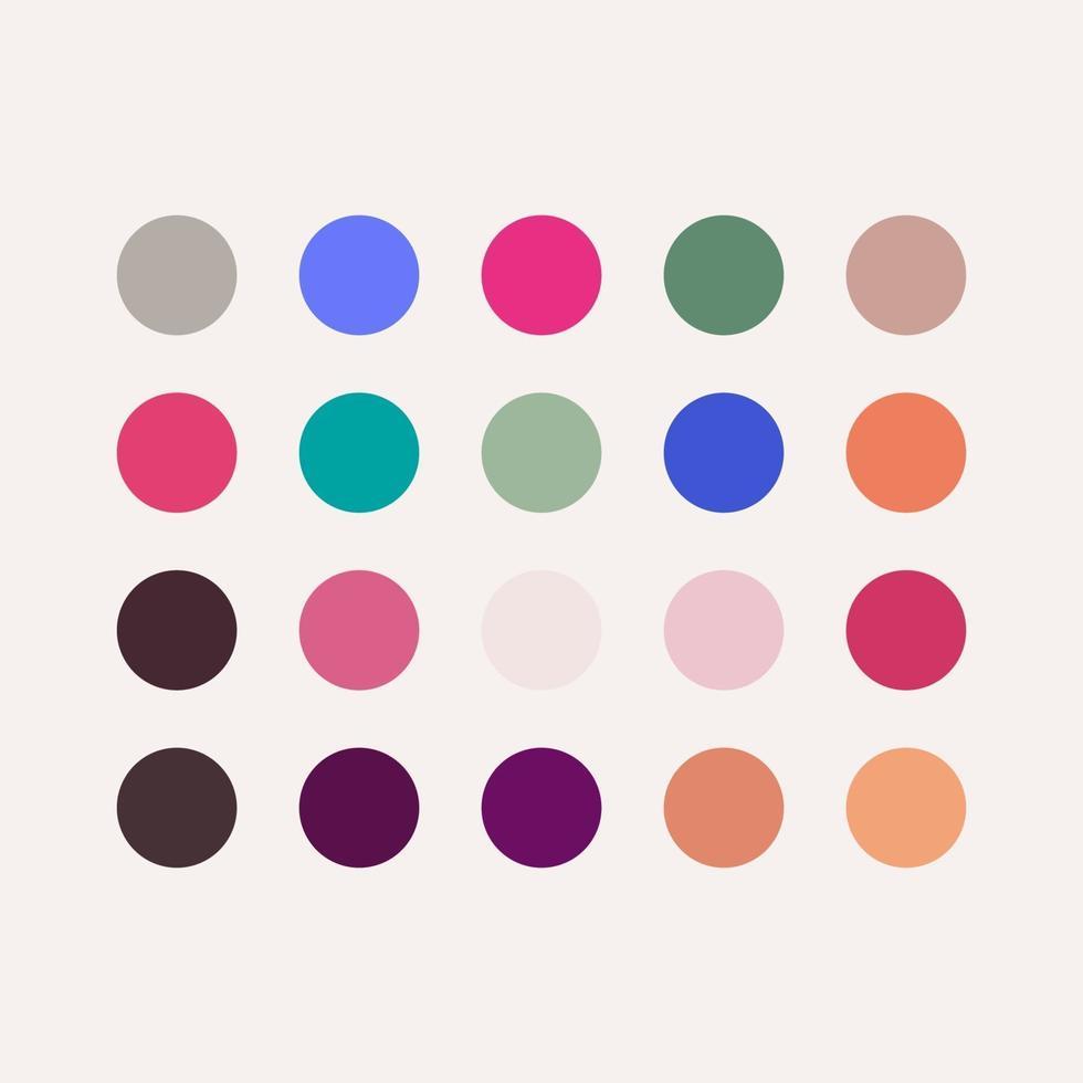 gradiente palete colorida ilustração de design de modelo vetorial vetor