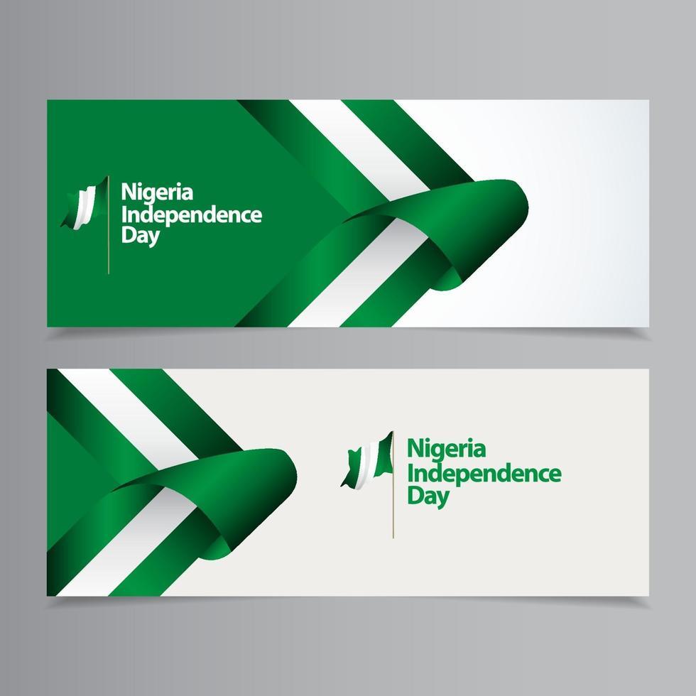 feliz nigéria celebração do dia da independência ilustração vetorial de design de modelo vetor