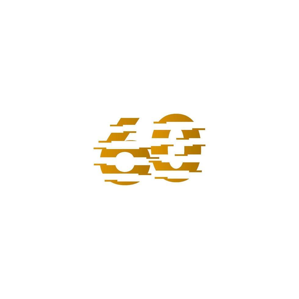 60 anos aniversário celebração número vector template design ilustração