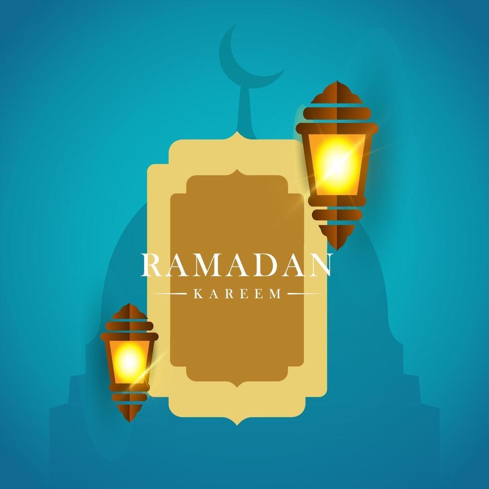 ilustração do projeto do modelo do vetor ramadan kareem lanterna