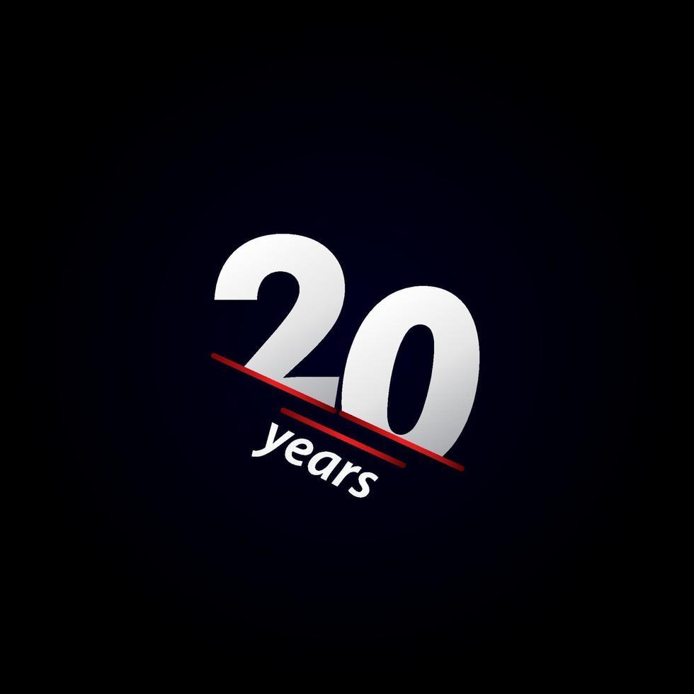 Ilustração em preto e branco da celebração do aniversário de 20 anos vetor