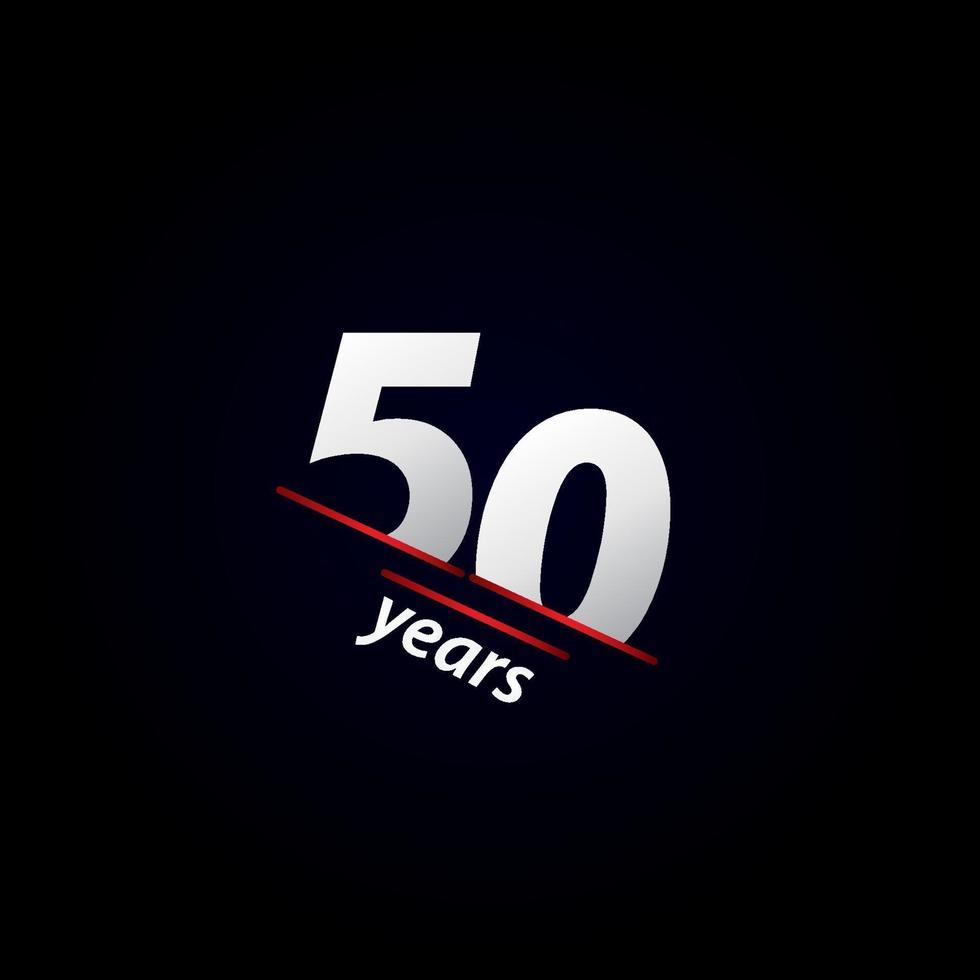 Ilustração em preto e branco da celebração do aniversário de 50 anos. vetor