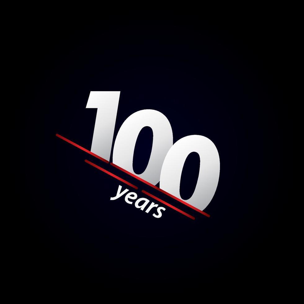 Ilustração em preto e branco da celebração do aniversário de 100 anos vetor