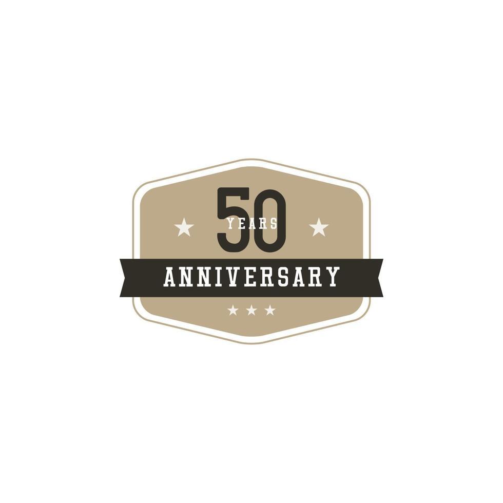 Ilustração de design de modelo vetorial celebração de aniversário de 50 anos vetor