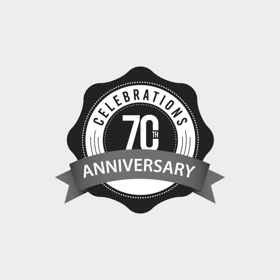 Ilustração de design de modelo vetorial comemorações do 70º aniversário vetor