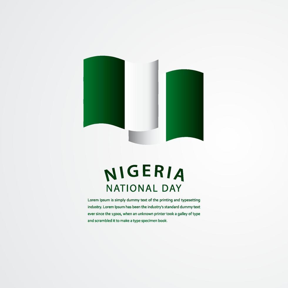 ilustração de design de modelo de vetor de celebração do dia nacional da Nigéria