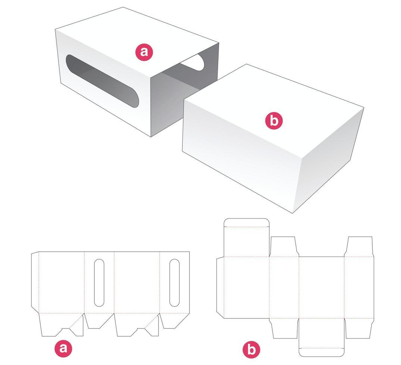 modelo de caixa simples e tampa cortada vetor