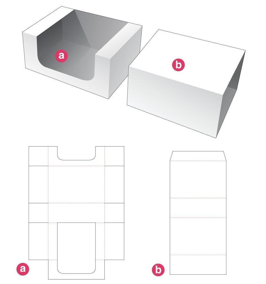 bandeja retangular e molde de cobertura cortada vetor